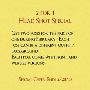 Professional Head Shot Special
