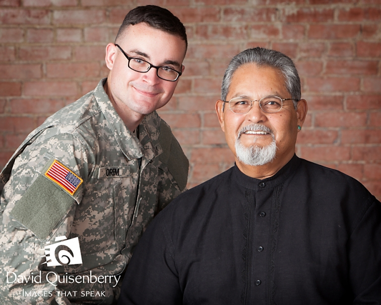 father and son military portrait