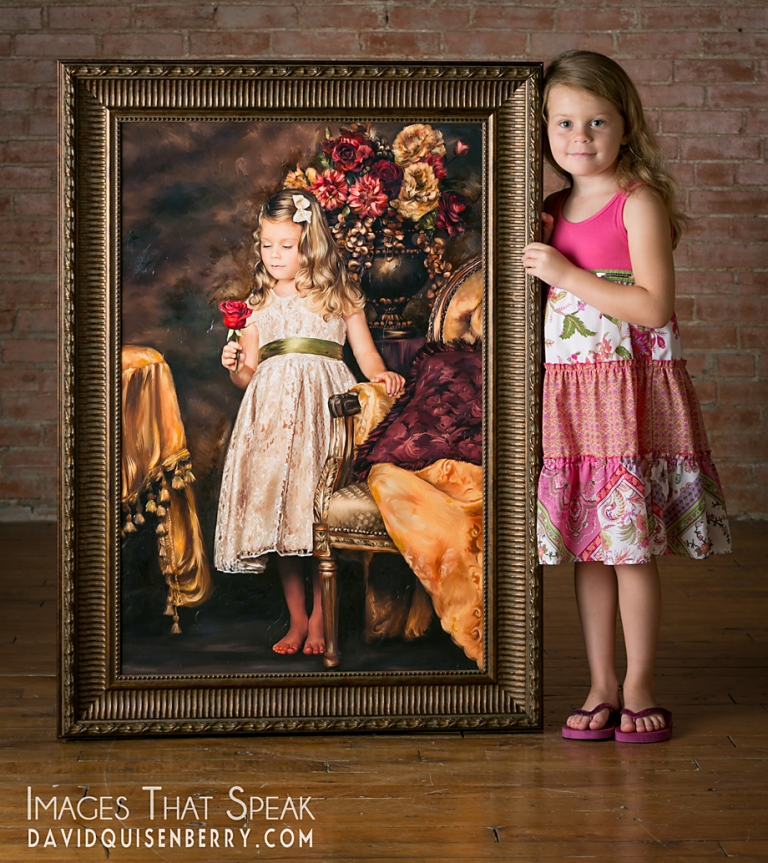 painting of little girl