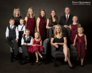 dressy family portrait