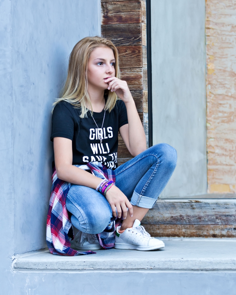 Dallas pre-teen / teen fashion editorial photography